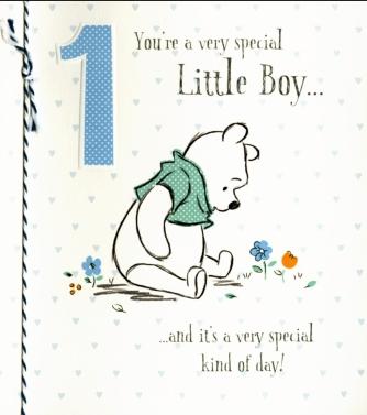 Winnie the Pooh '1st birthday boy'