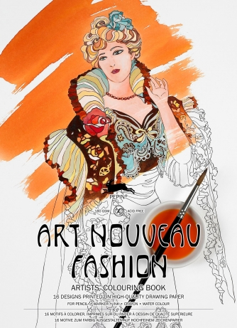 Artists Coloring Book Pepin : Art nouveau fashion colouring book by pepin press