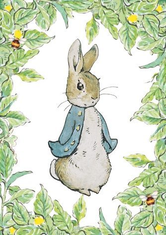 Peter Rabbit - leaf border