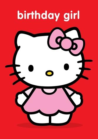 Hello Kitty 'birthday girl'