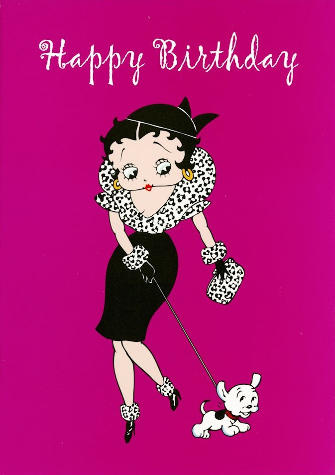 Greeting card featuring Betty Boop.