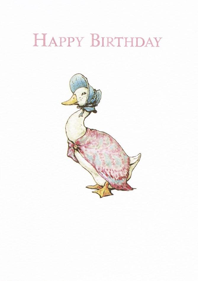 Jemima Puddle Duck Birthday//Christening Invitations Beatrix Potter
