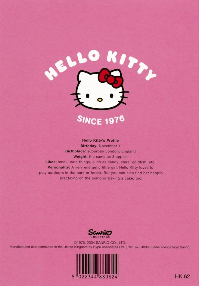 272af5b61 Hello Kitty greeting card from Pink & Greene.