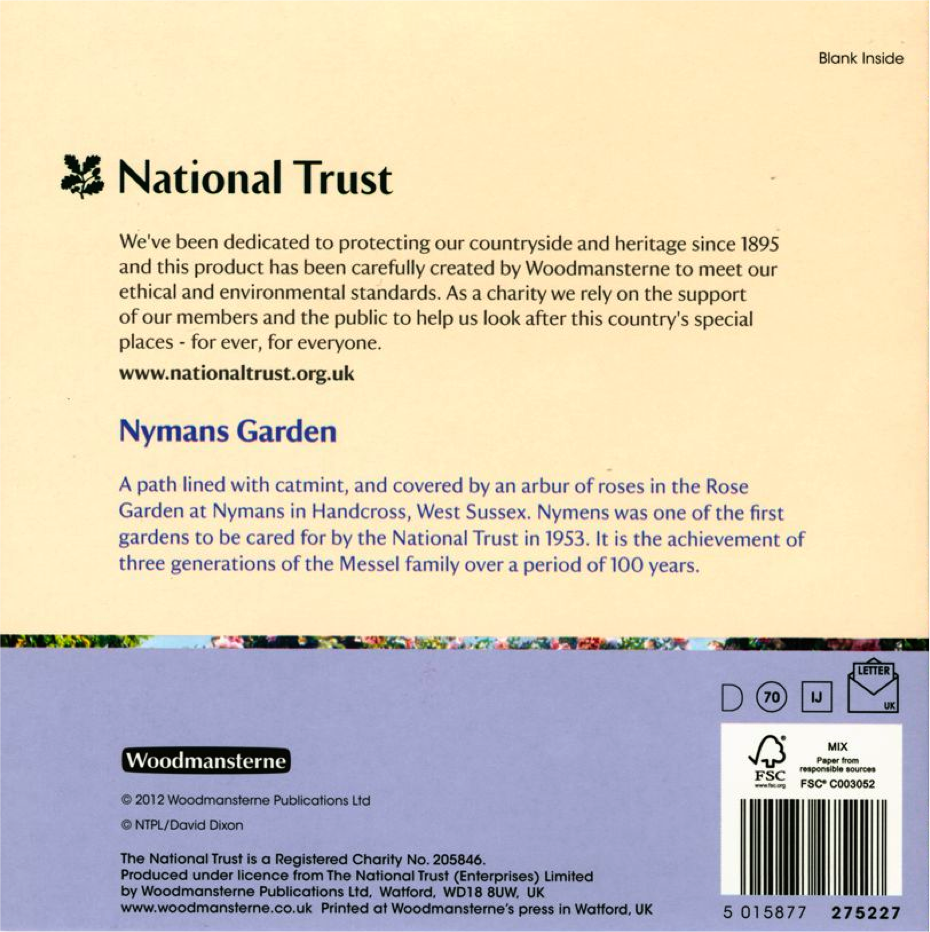 A Blank National Trust Greeting Card