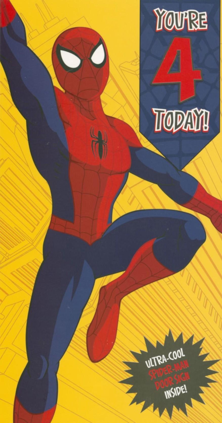87 Home, Furniture & DIY Spiderman Card with Badge GRANDSON BIRTHDAY ...