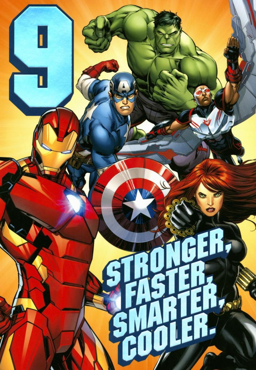 A Marvel birthday card from Hallmark.