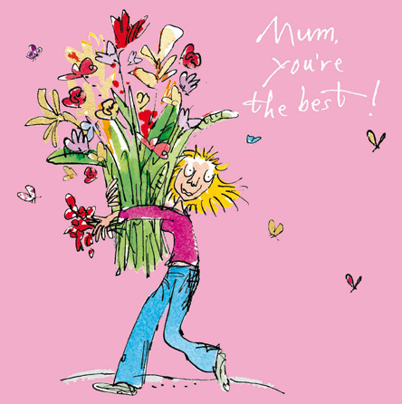 Quentin Blake Husband Valentine/'s Day Greeting Card Cartoon Range Cards
