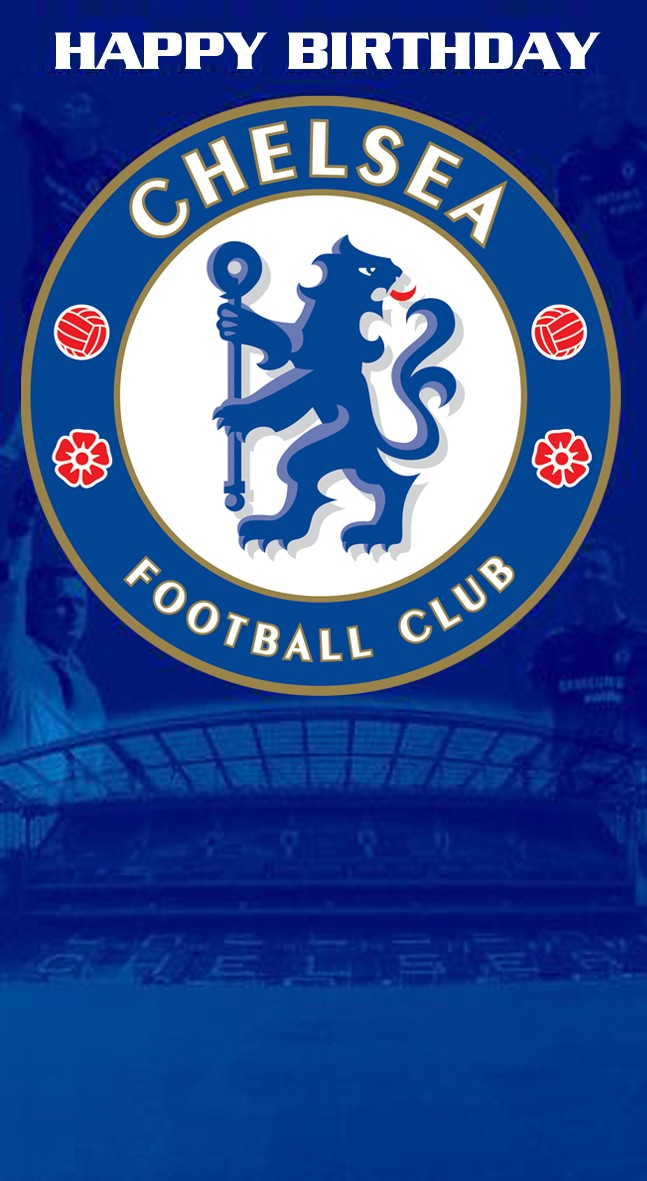 Chelsea Birthday football club Card