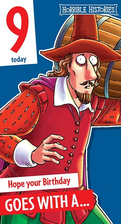 An Official Horrible Histories Birthday Card
