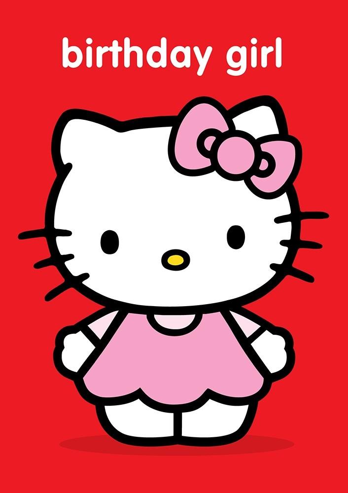 Hello kitty greeting card from pink greene hello kitty birthday girl m4hsunfo
