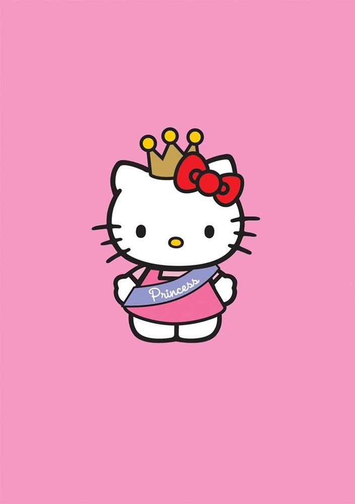 Hello kitty greeting card from pink greene - Princesse hello kitty ...