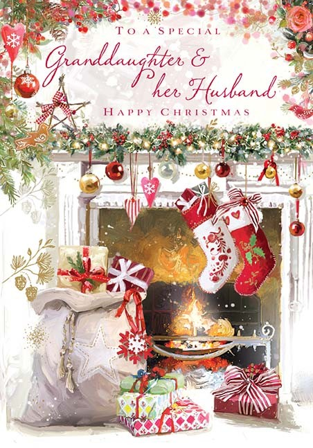 A Large Traditional Christmas Card By Pink Greene