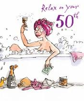 Lady having a bubble bath