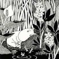 Moomintroll at a lake