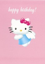 Hello Kitty Angel Birthday