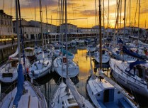 Summer evening at St Martin yacht basin