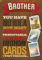Boring birthday cards