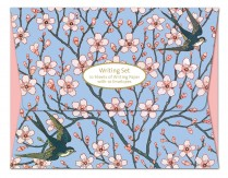 Almond blossom and swallow