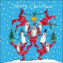 Santa acrobatics