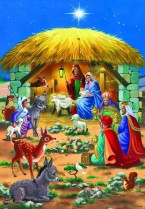 At the manger