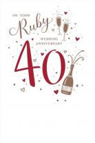 On your Ruby wedding anniversary