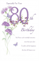Especially for your 80th
