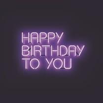 Neon birthday