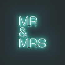 Neon Mr and Mrs