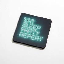Eat, sleep, party