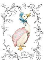 Jemima Puddle-Duck - floral border