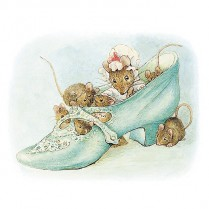 Mouse family in a shoe
