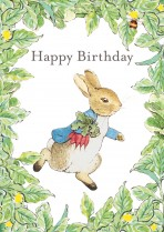 Peter Rabbit and carrots - leaf border