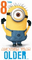 Despicable Me Minion 8th birthday