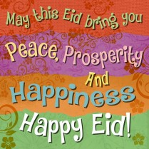 Peace, prosperity and happiness!