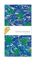 Marbled endpaper (blue)