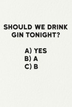 Gin tonight