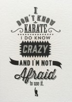 I don't know karate