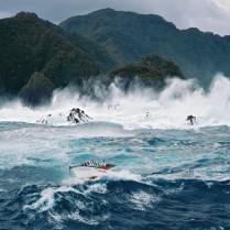 Storm off the New Zealand coast