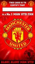 Manchester United fan certificate