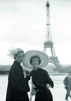 Wenda Parkinson and model, Vogue 1950