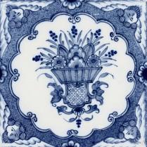 Basket of flowers tile