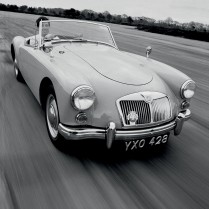 Peter Anthony driving an MGA