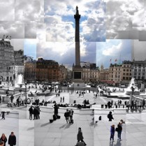 Trafalgar Square collage, London