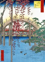 Japanese bridge (woodblock print)