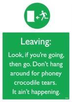 Don't hang around