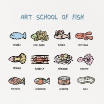 Art school of fish