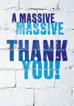 Massive thank you