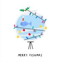 Festive fish tank