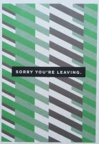 Sorry you're leaving