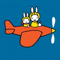 Miffy in a plane
